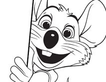 chuck e cheese coloring page - 1