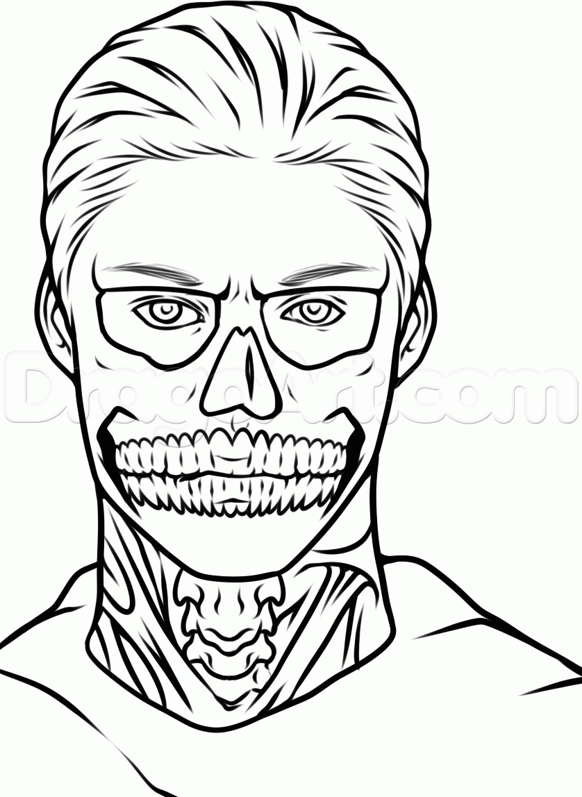 chucky coloring pages - how to draw tate from american horror story evan peters