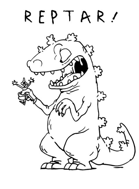 chucky coloring pages - p reptar
