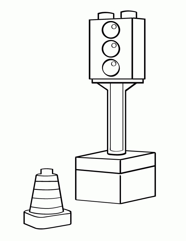 chuggington coloring pages - traffic light coloring page
