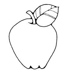 church coloring pages - fruit clipart black and white