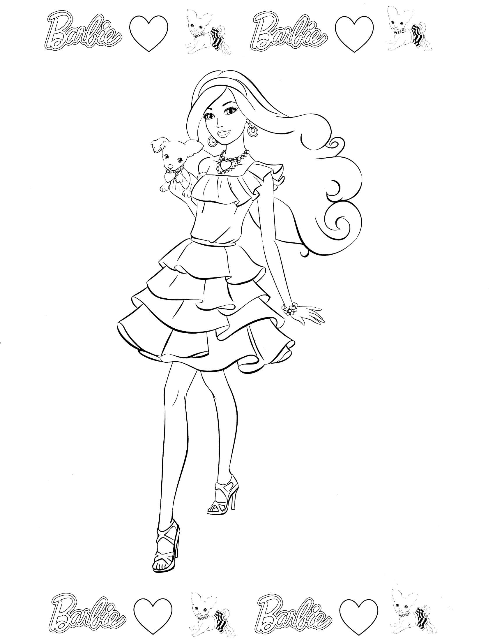 cinderella coloring pages - barbie coloring page 52