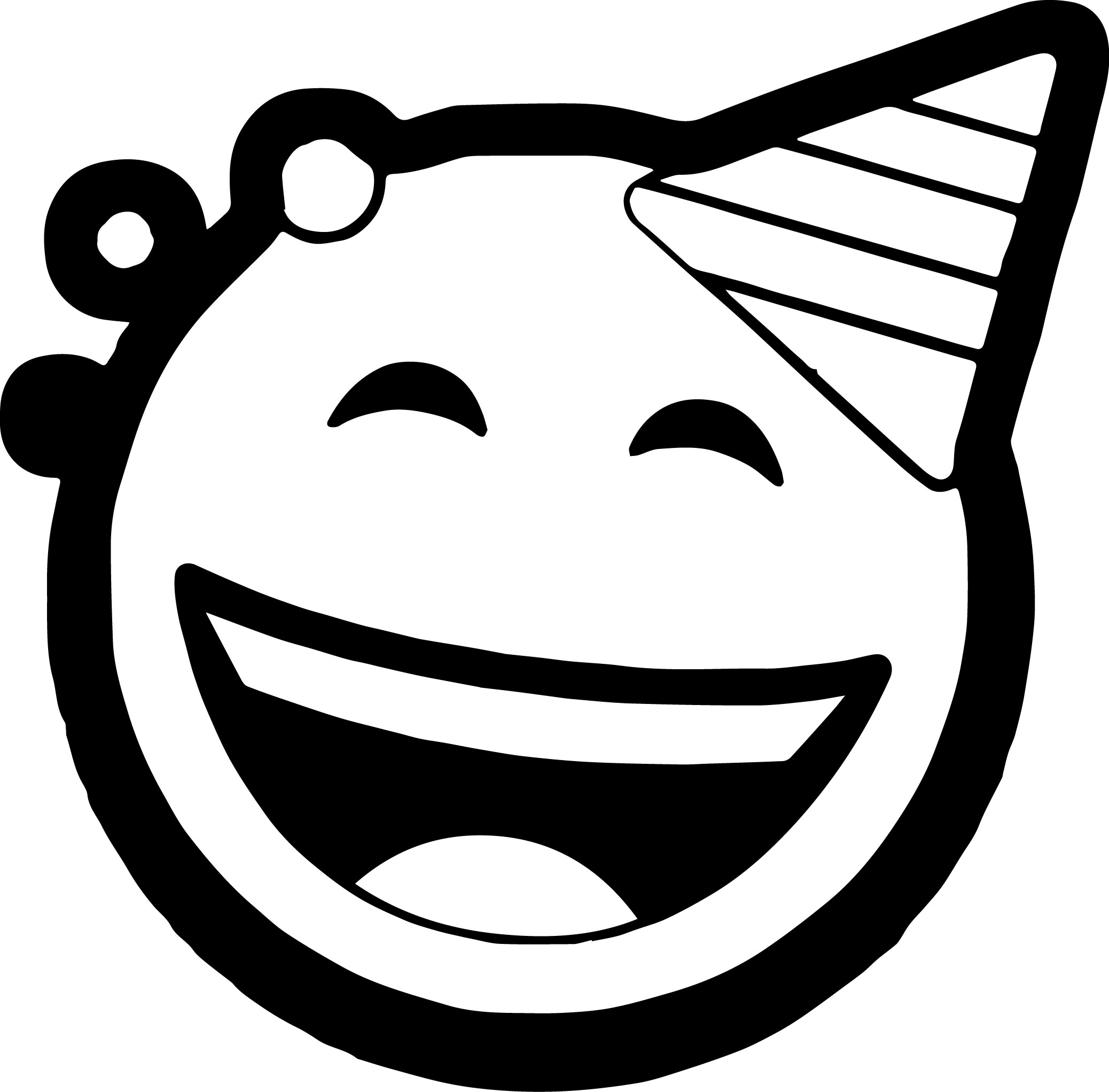 Circle Coloring Page - Celebration Circle Face Emoticons Coloring Page
