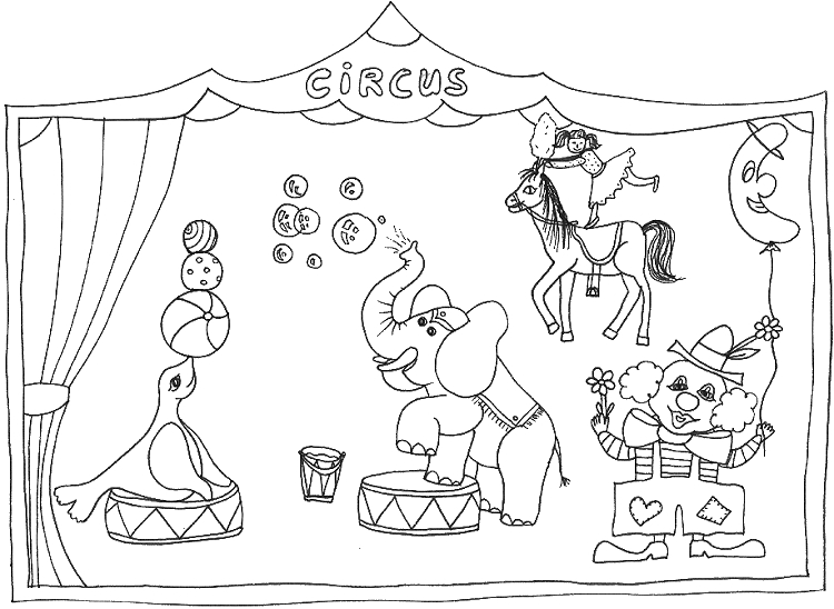 Circus Coloring Pages - Circus Coloring Pages Coloringpages1001