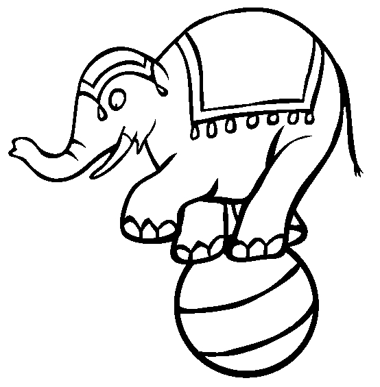circus coloring pages - circus elephant coloring pages ideas to