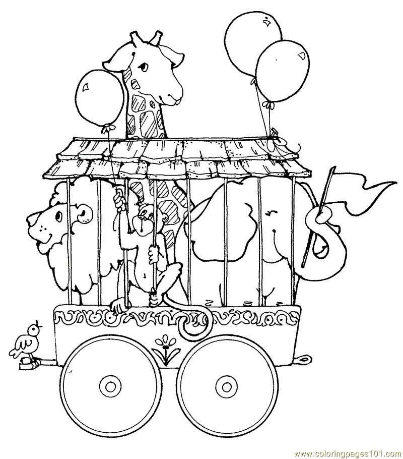 circus coloring pages - circus tent coloring page