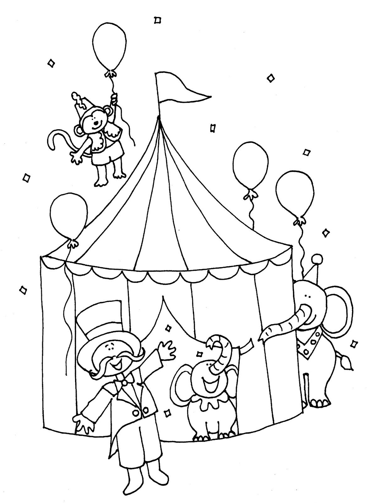 circus coloring pages - printable circus coloring pages