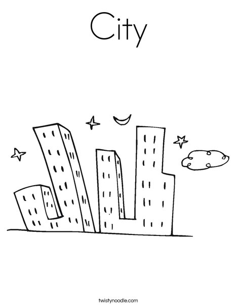 city coloring pages - city coloring page
