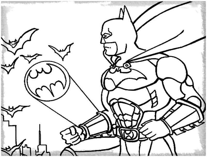 civil war coloring pages - batman para colorear en la putadora