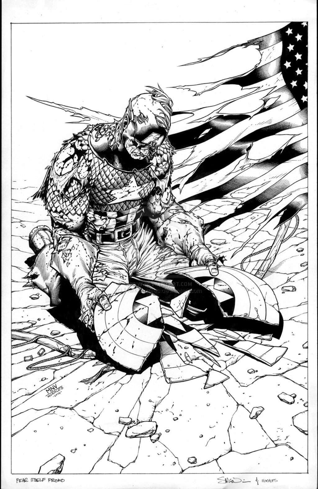 civil war coloring pages - fear itself 2 marvel ics