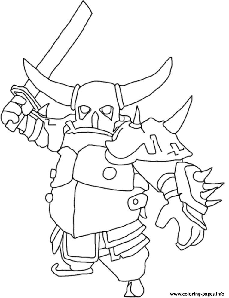 clash of clans coloring pages - pekka mode clash of clans printable coloring pages book