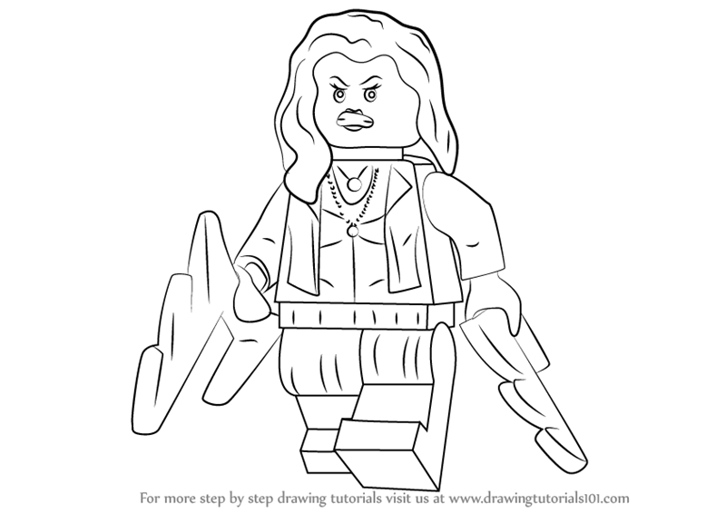clash royale coloring pages - how to draw lego scarlet witch