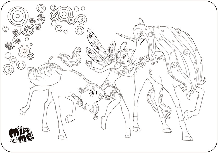 clifford coloring pages - mia and me 3