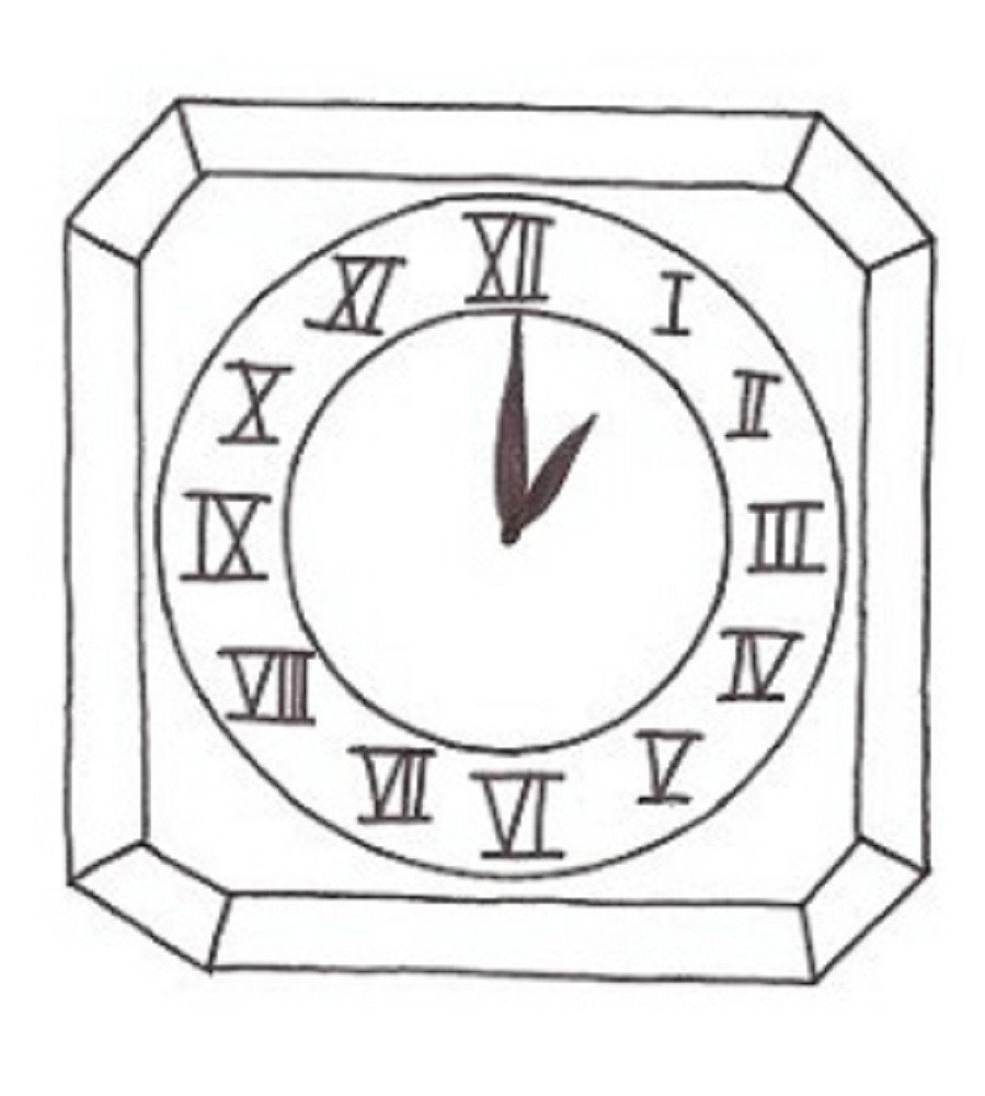 clock coloring page - clock coloring pages for kids