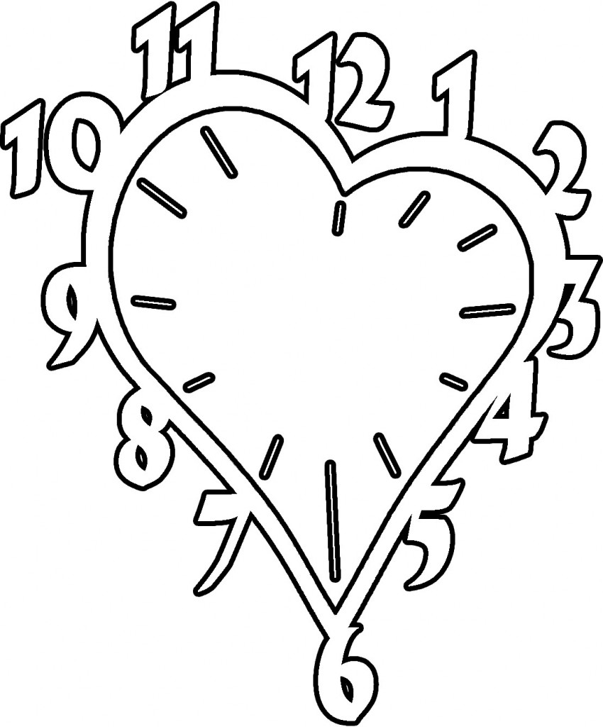 28 Clock Coloring Page Compilation