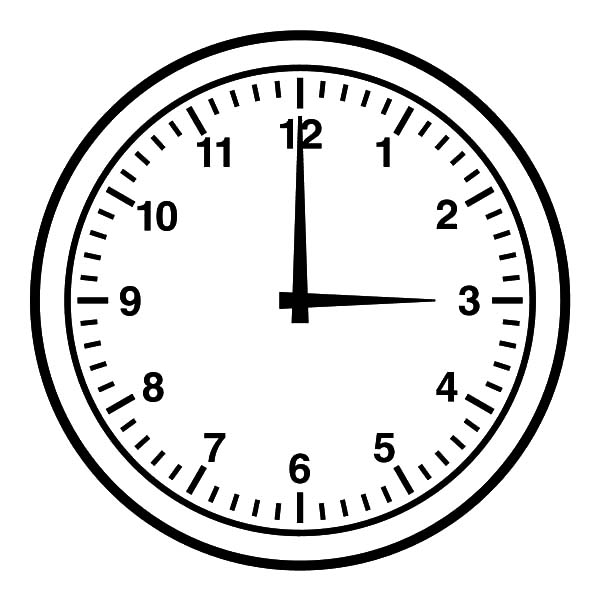 clock coloring page - how to draw clock coloring pages