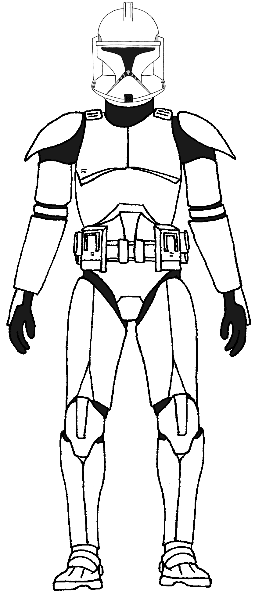 clone trooper coloring pages - 347