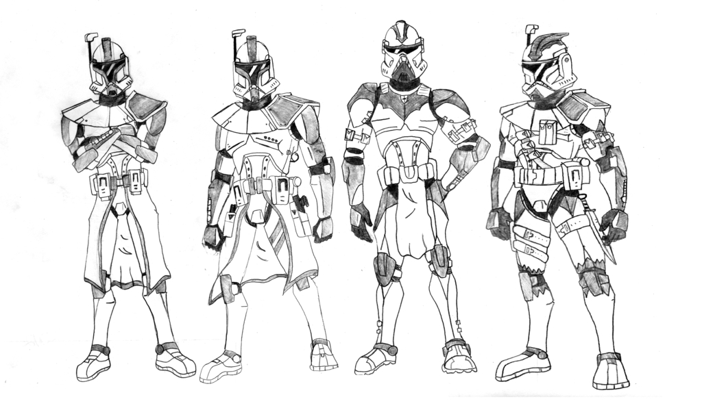23 clone trooper coloring pages pictures