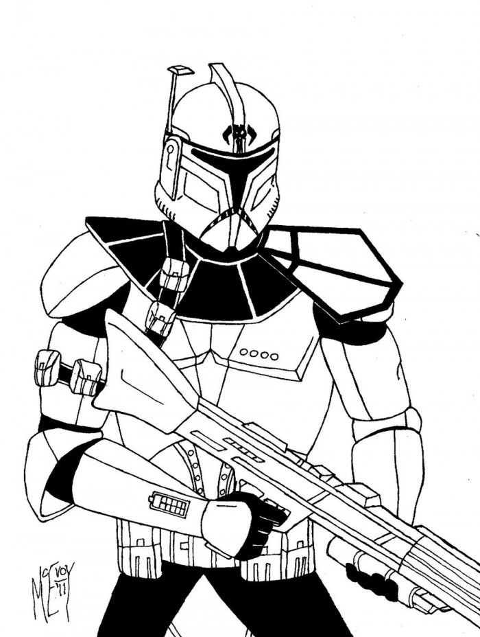 clone trooper coloring pages - clone trooper coloring page