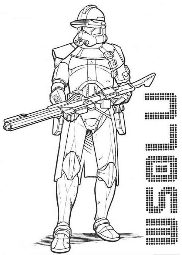 clone trooper coloring pages - the clone trooper drawing in star wars coloring page