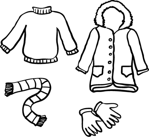 clothes coloring pages - clothes colouring pages