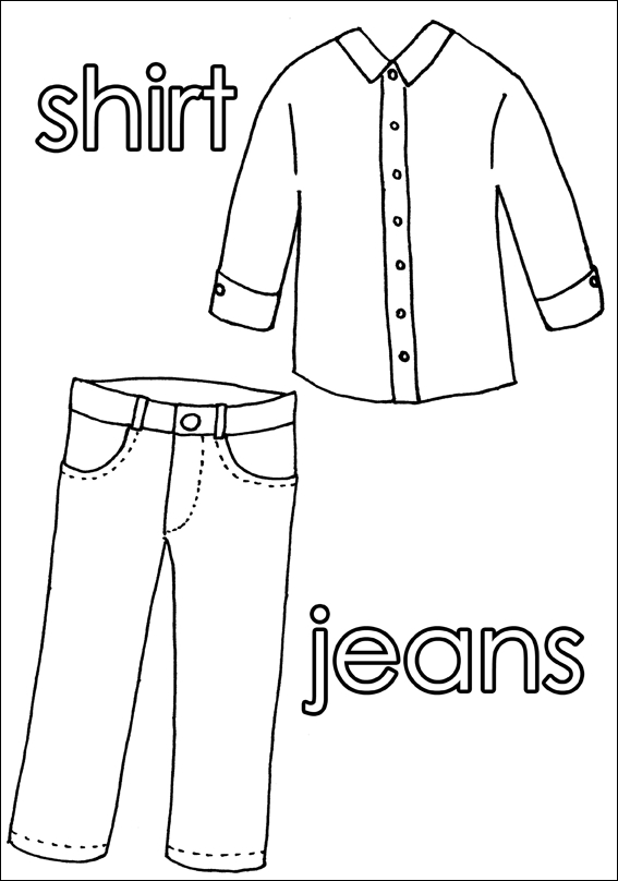 clothes coloring pages - q=or clothes