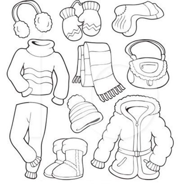 clothes coloring pages -