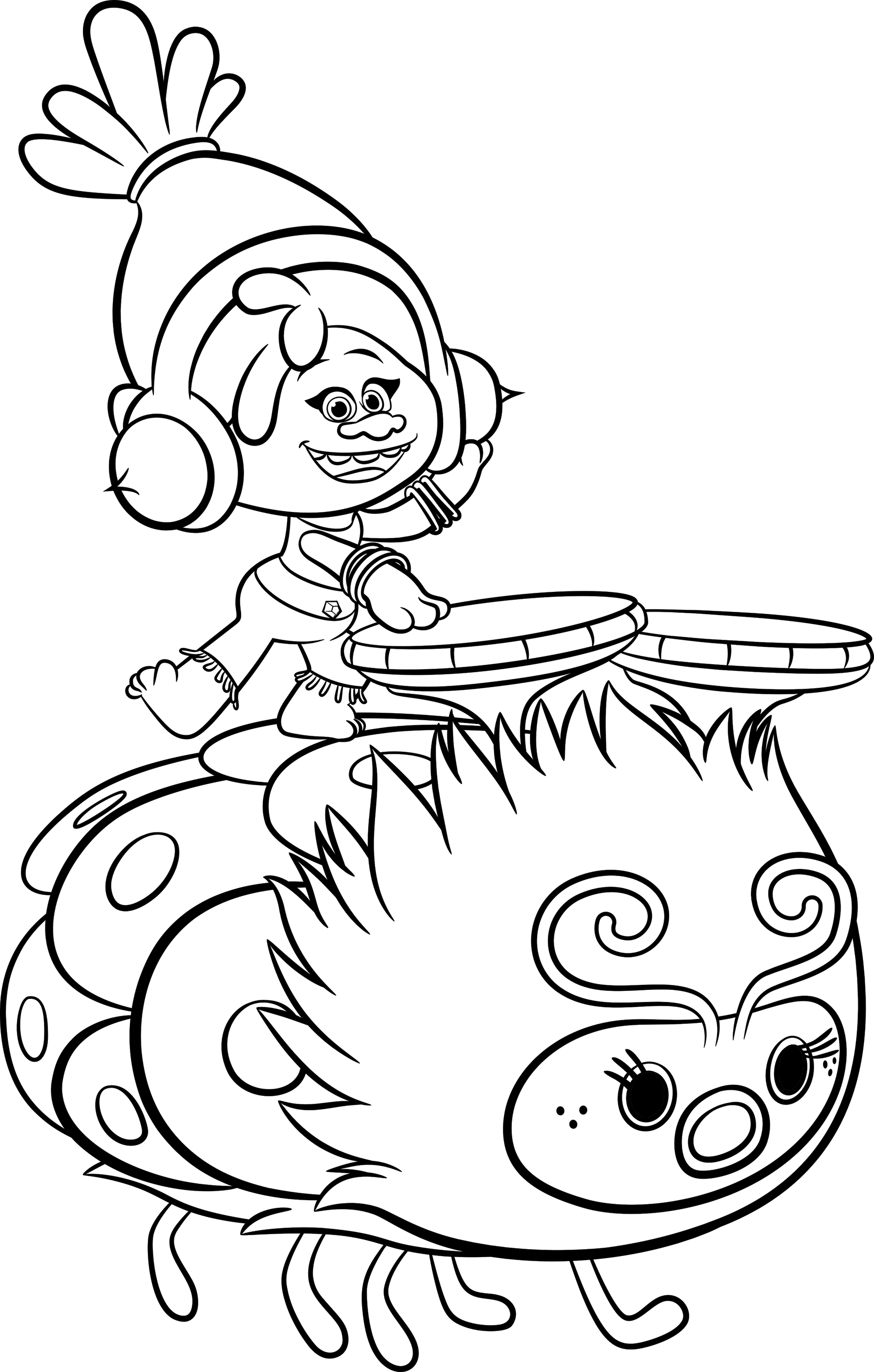 cloud coloring page - trolls digital hd free activity sheets