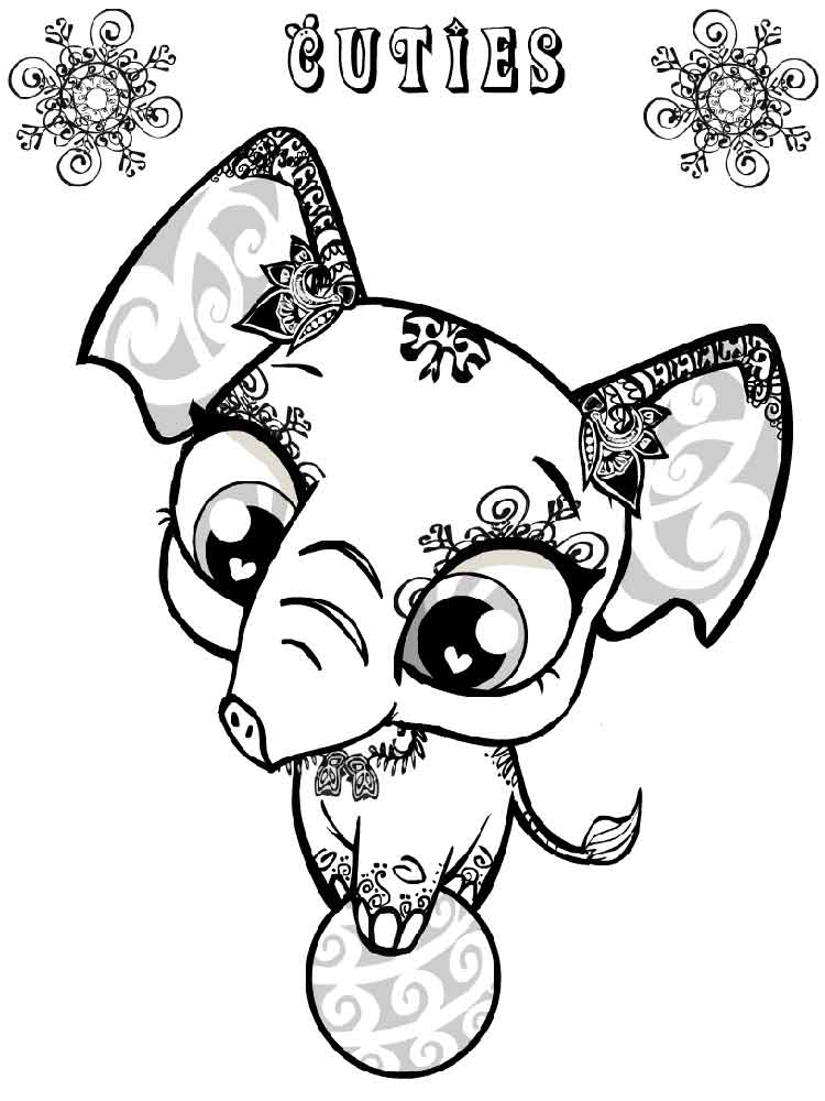 cloud coloring page - cuties coloring pages