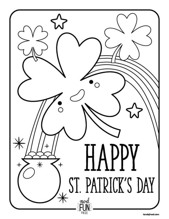 clover coloring pages - 12 st patricks day printable coloring pages for adults kids