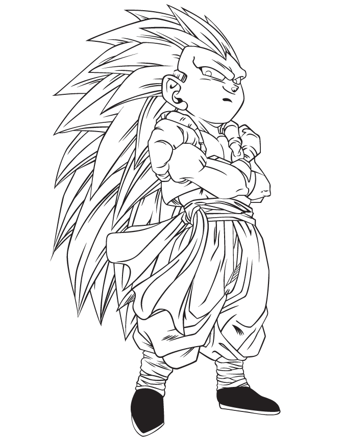 clover coloring pages - dbz coloring pages