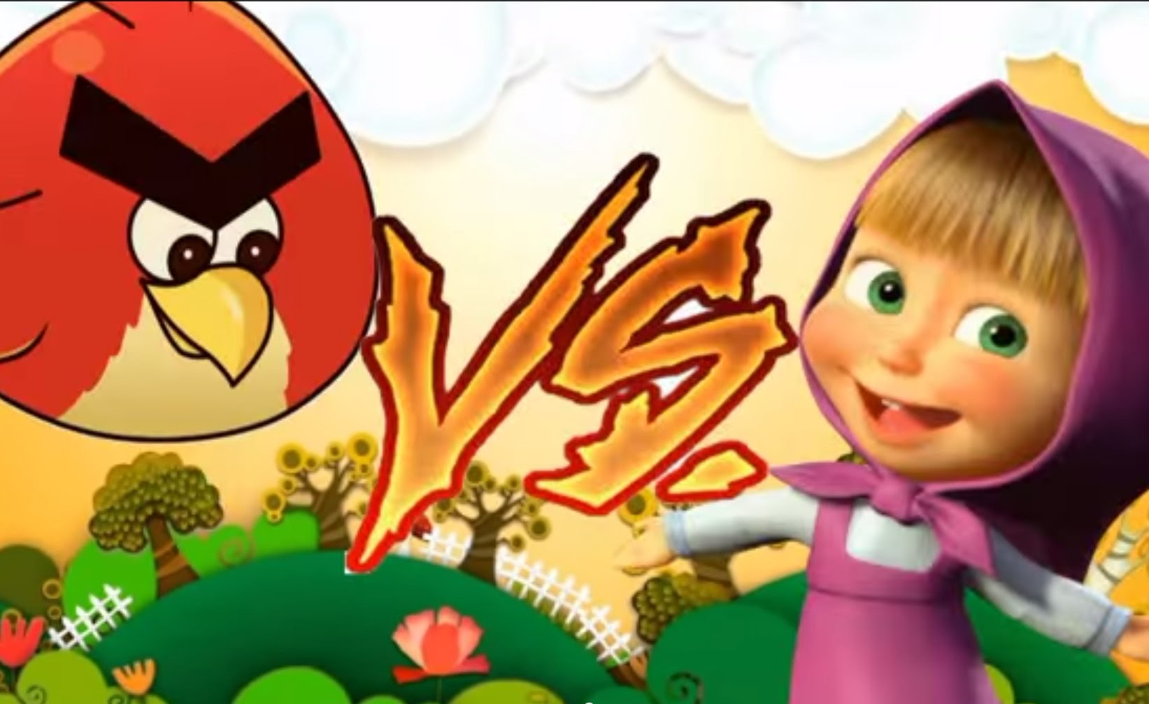 Clover Coloring Pages - 動畫片 Angry Birds Cartoon Masha and the Bear Masha Vs