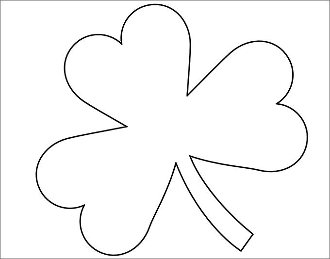 clover coloring pages - shamrock template
