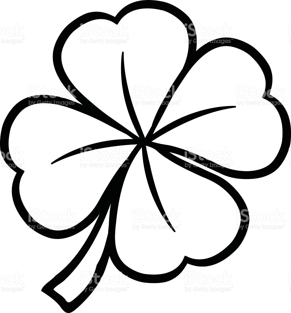 clover coloring pages - st patricks day shamrock clover leaf gm