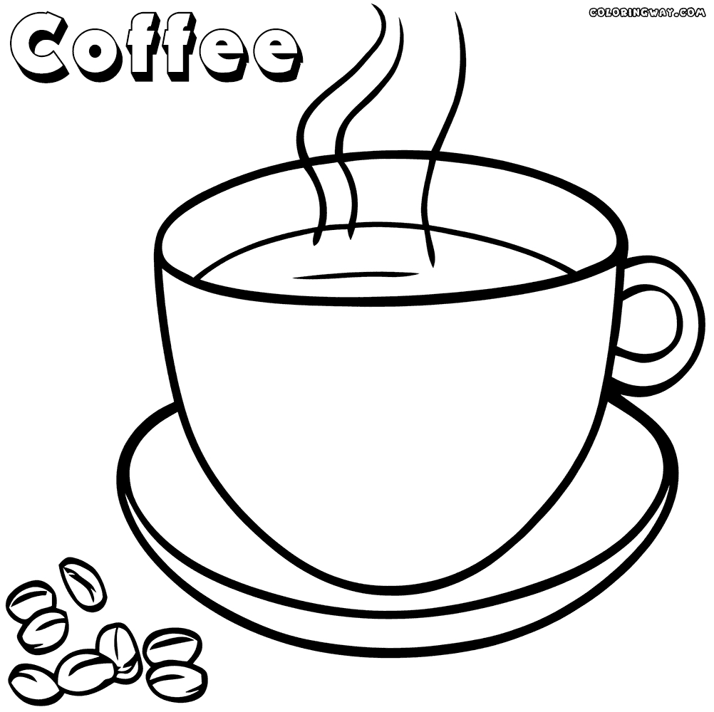 Coffee Coloring Pages - Coffee Coloring Pages