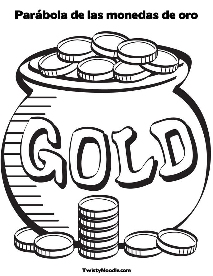 coin coloring pages - coin coloring page