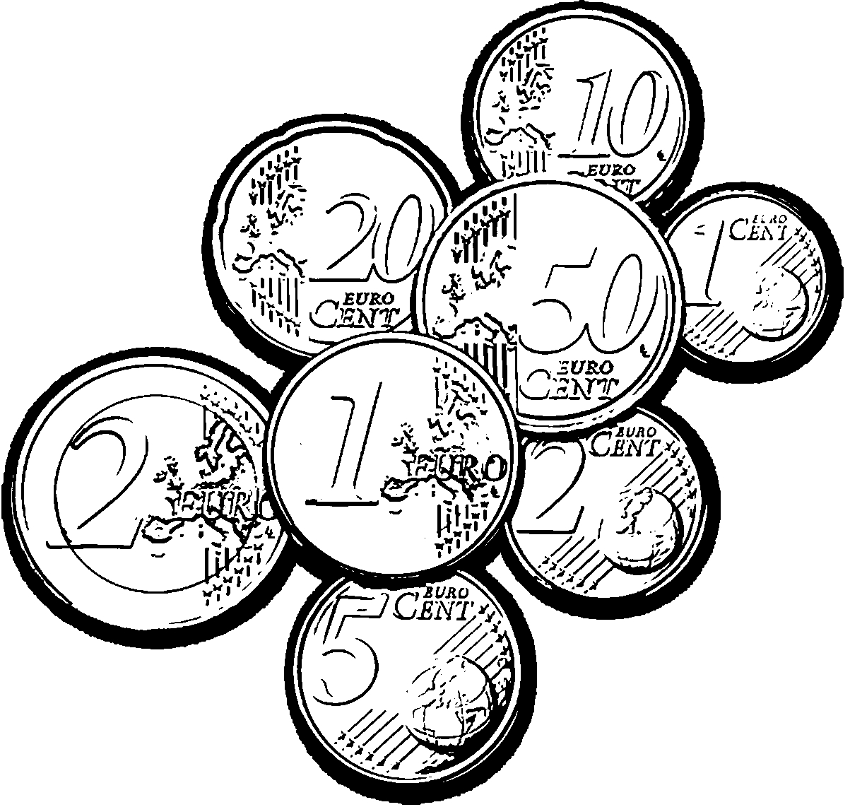 coin coloring pages - coin coloring pages