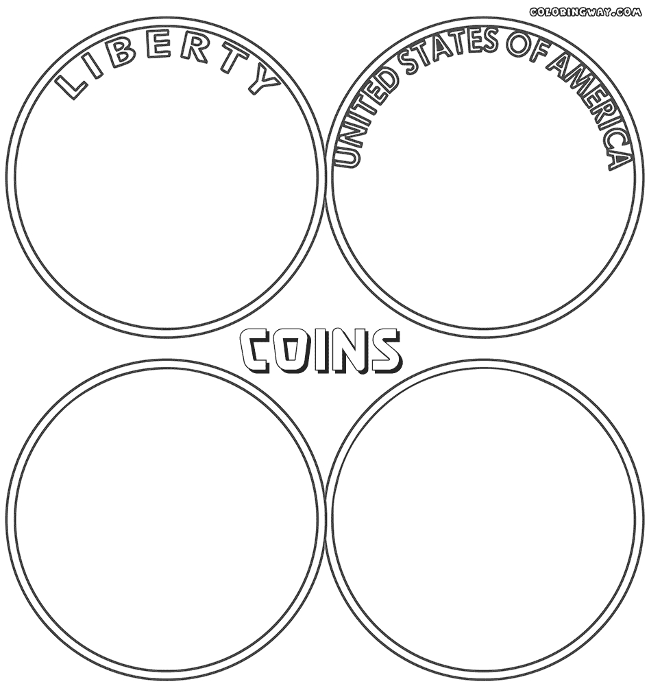 coin coloring pages - coins coloring page