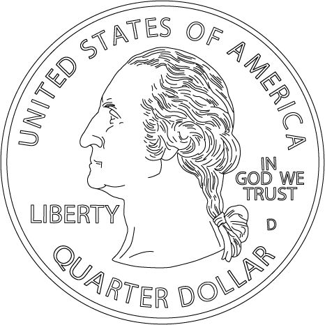 coin coloring pages -