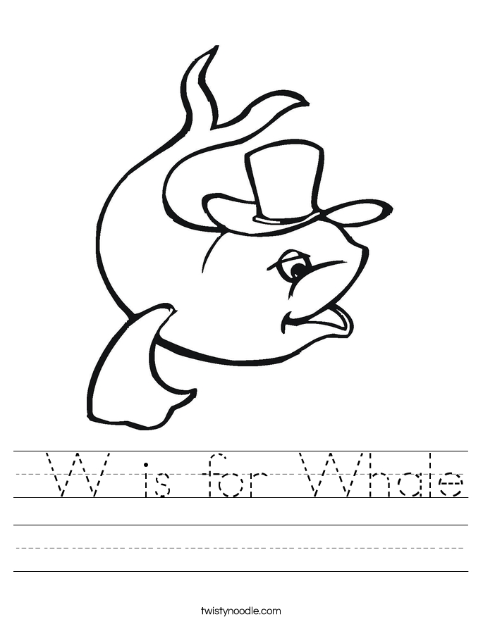 color by number coloring pages - w is for whale worksheet