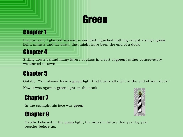 color symbolism in the great gatsby with page numbers - the great gatsby