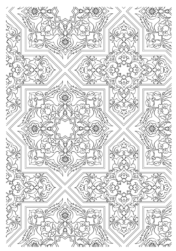 colorama coloring pages - decor 1001nuits