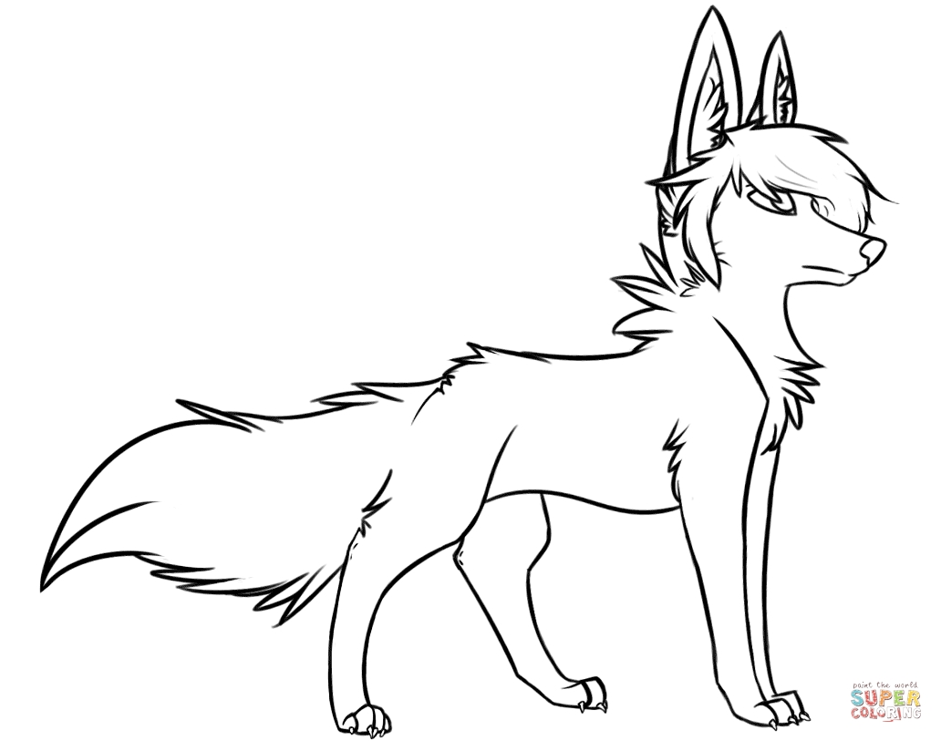 colorama coloring pages - cute wolf coloring pages