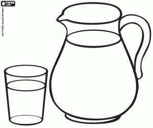 coloring book pages - glass jug milk coloring page