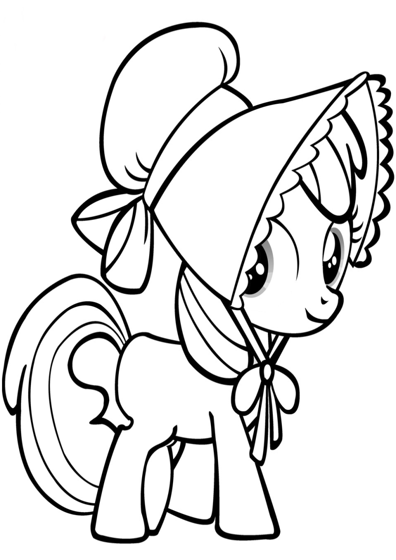 coloring book pages - Apple Bloom kolorowanka my little pony 2