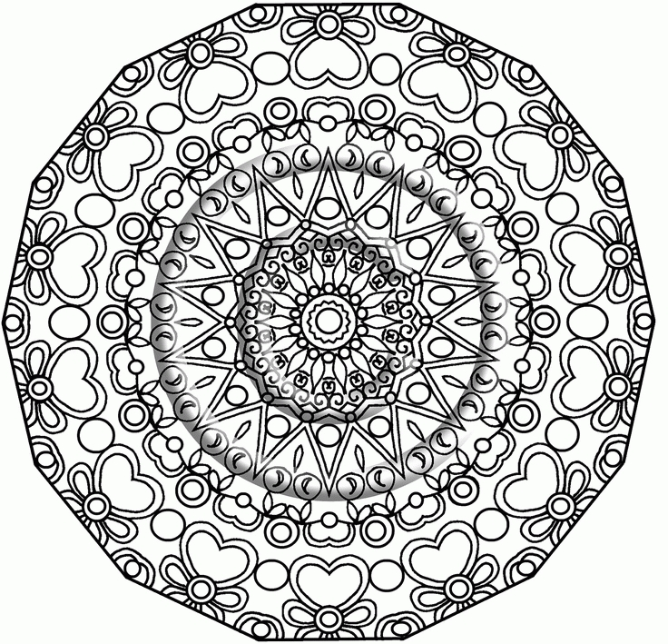 coloring book pages - mandala coloring pages pdf