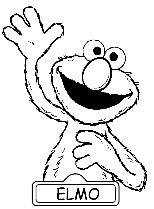 coloring book pages to print - elmo coloring pages to print