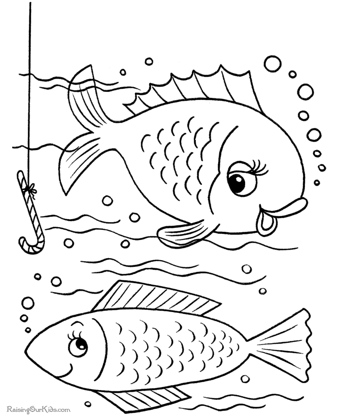 coloring book pages to print - 001 fish coloring book pages