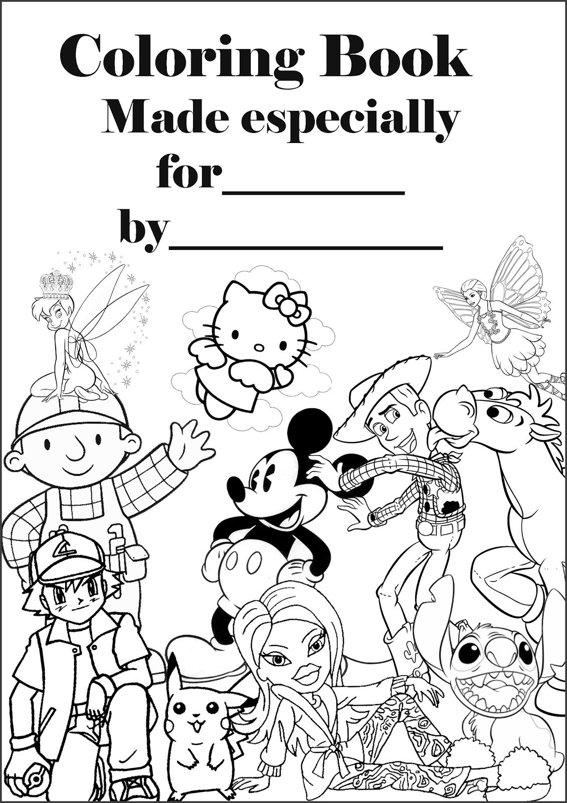 coloring book pages to print - printable coloring book cover page