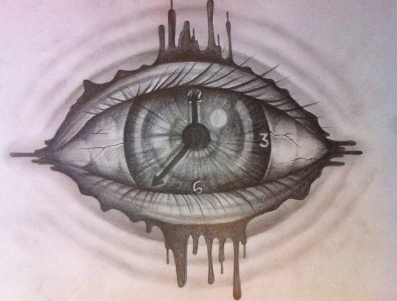 coloring pages blood - clock eye drawing